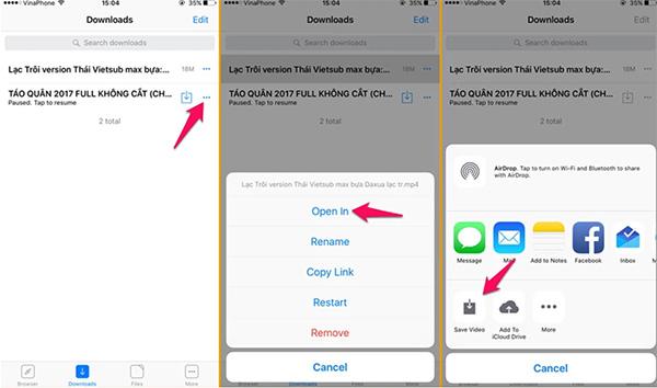 Phần mềm xem phim offline Browser and File Manager for Documents dành riêng cho hệ điều hành iOS