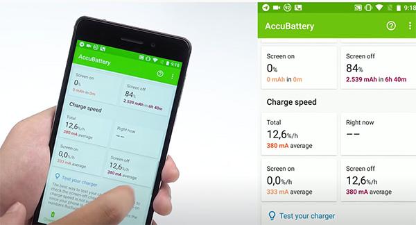 Phần mềm quản lý pin Android