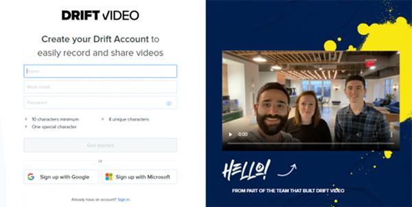 Cài đặt tiện ích mở rộng Drift Video trên trình duyệt Chrome
