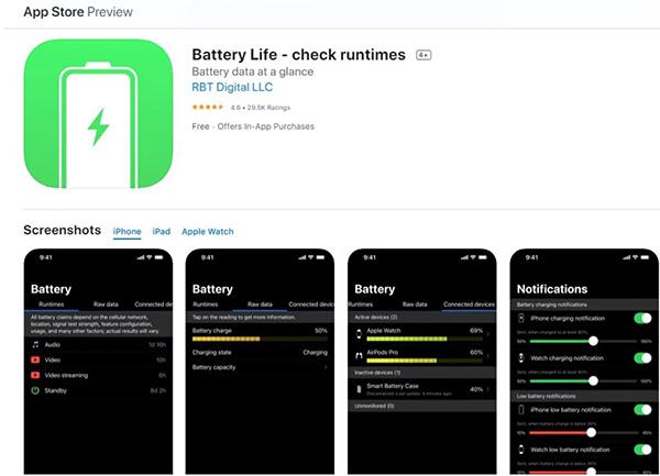 Sử dụng ứng dụng Battery Life để kiểm tra độ chai pin iPhone