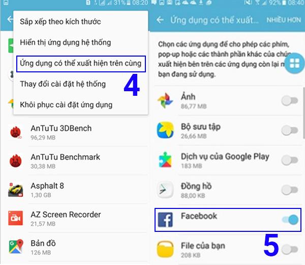 Cách tắt lớp phủ màn hình Samsung (1)