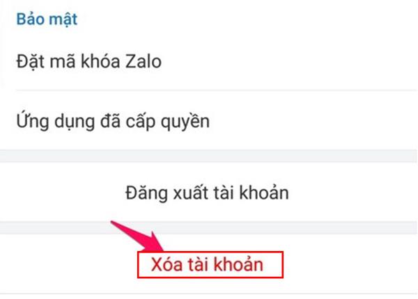 Cách xóa vĩnh viễn tài khoản Zalo trên điện thoại