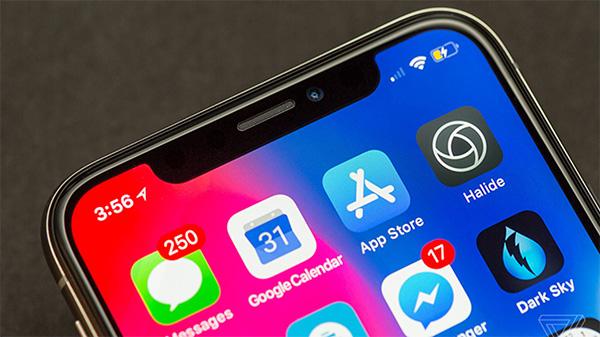 Từ iPhone X trở nên sẽ không thể cài đặt hiển thị % pin trên màn hình chính