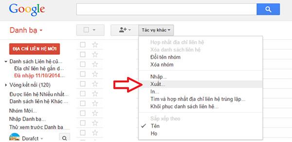 Tải xong file VCF lên tài khoản Google Drive hoặc gửi email