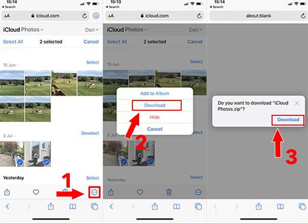 Cách tải ảnh từ iCloud về iPhone