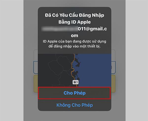 Cho phép thiết bị truy cập vào tài khoản iCloud của bạn từ iPhone