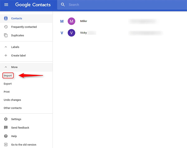 Đăng nhập vài tài khoản Gmial để Import file danh bạ vừa tải về lên Gmail