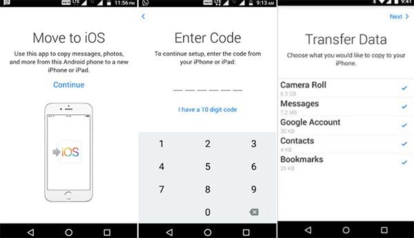 Chuyển tin nhắn từ Android sang iPhone bằng Move to iOS