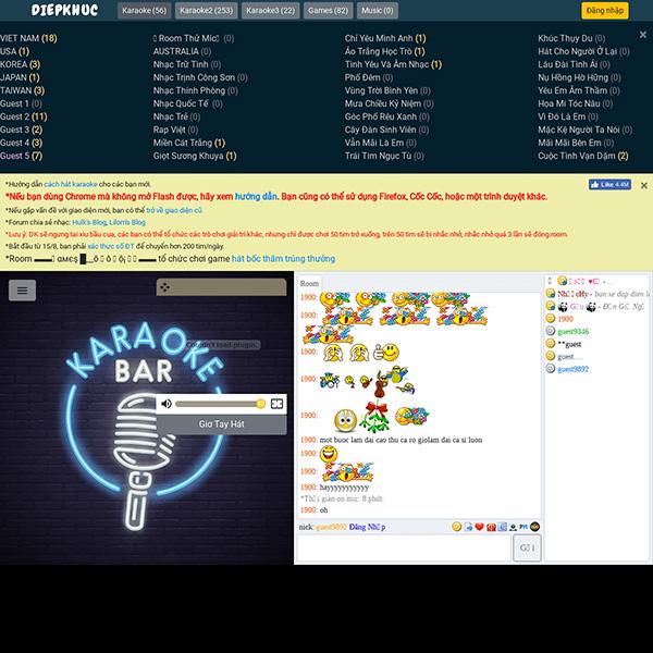 Hát Karaoke Online trên máy tính có chấm điểm trên diepkhuc.com