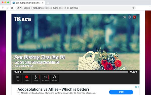 Hát Karaoke chấm điểm Online trên ikara.co