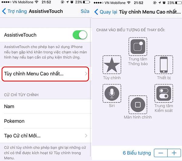Bạn hoàn toàn có thể tùy chỉnh cài đặt của Assistive Touch trên iPhone