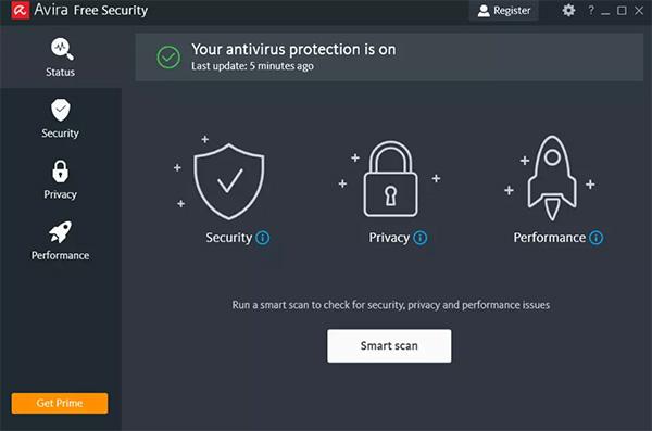 Phần mềm diệt virus nhẹ cho máy tính Avira Free Antivirus