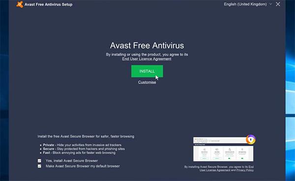 Phần mềm diệt virus nhẹ cho máy tính Avast Free Antivirus 2021