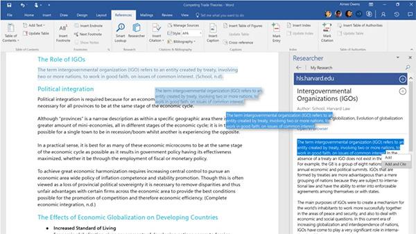Phần mềm soạn thảo văn bản Microsoft Word