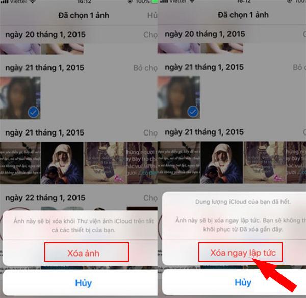 Cách từ từng ảnh trên iCloud