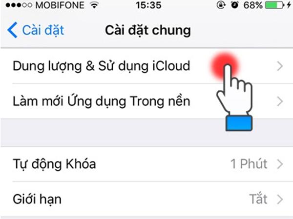 Kiểm tra dung lượng iCloud còn trống (2)