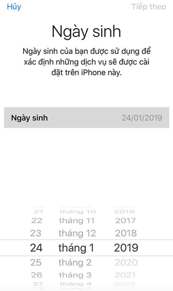 Cách tạo tài khoản iCloud trên iPhone (1)