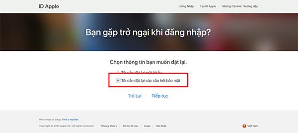 Cách thay đổi câu hỏi bảo mật iCloud (1)