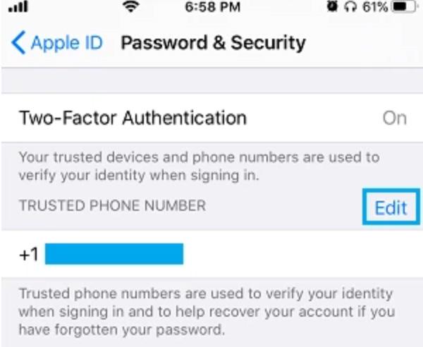 Cách đổi số điện thoại trên iCloud khi bị mất (2)