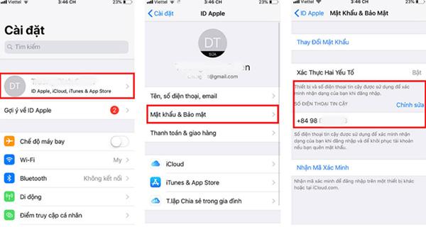 Cách đổi số điện thoại trên iCloud