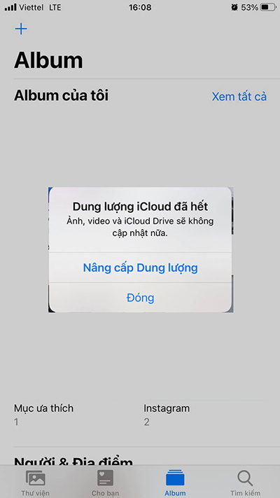 Lỗi iPhone báo đầy bộ nhớ iCloud là gì?