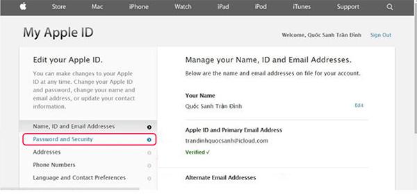 Cách đổi mật khẩu iCloud khi quên câu hỏi bảo mật (2)