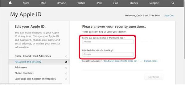 Cách đổi mật khẩu iCloud khi quên câu hỏi bảo mật (3)