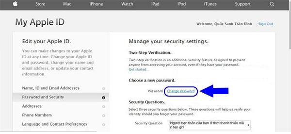 Cách đổi mật khẩu iCloud khi quên câu hỏi bảo mật (4)