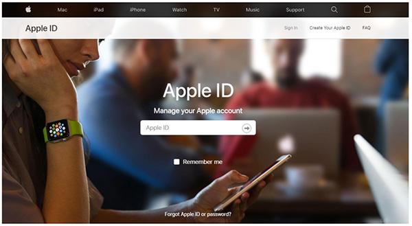 Truy cập trang quản lý tài khoản iCloud