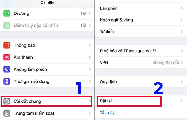 Kiểm tra iCloud ẩn bằng cách khôi phục cài đặt gốc