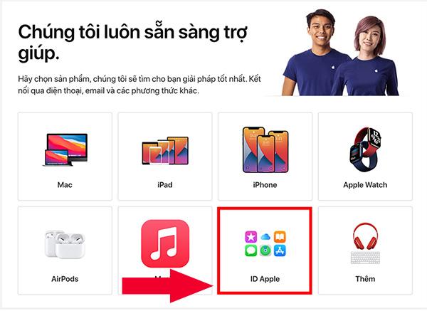 Ngoài ra, bạn cũng có thể Liên hệ trực tiếp với bộ phận hỗ trợ của Apple để đổi câu hỏi bảo mật iCloud