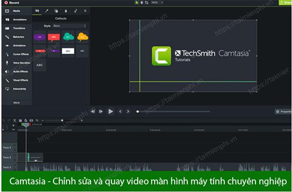 Phần mềm chỉnh sửa video trên máy tính Camtasia