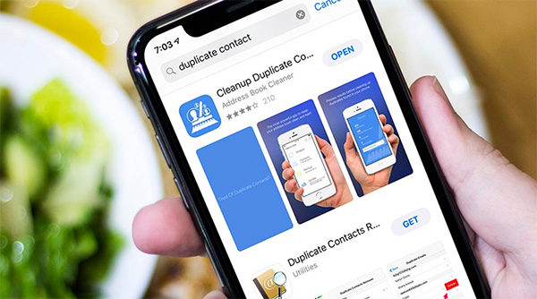 Sử dụng ứng dụng Cleanup Duplicate Contacts