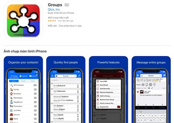 Phần mềm xóa danh bạ iPhone Group