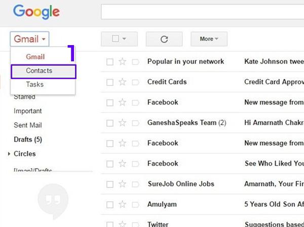 Cách xóa danh bạ trùng lặp trên điện thoại qua Gmail
