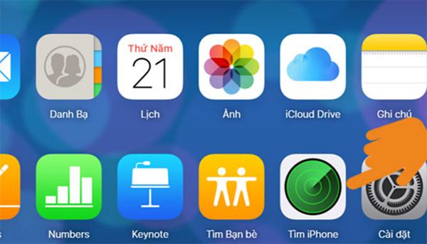Bật tính năng tìm iPhone