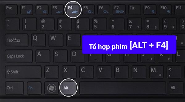 Nhấn tổ hợp phím Alt + F4 > Enter để xác nhận tắt máy tính