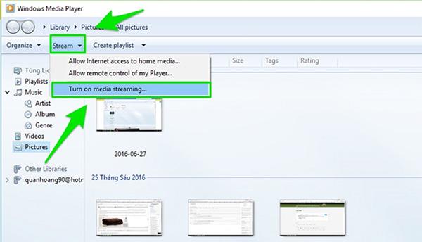 Bật tính năng chia sẻ hình ảnh trên laptop lên tivi Sony