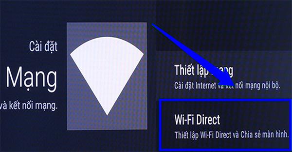 Kết nối tivi Samsung với laptop qua Wifi Direct (1)