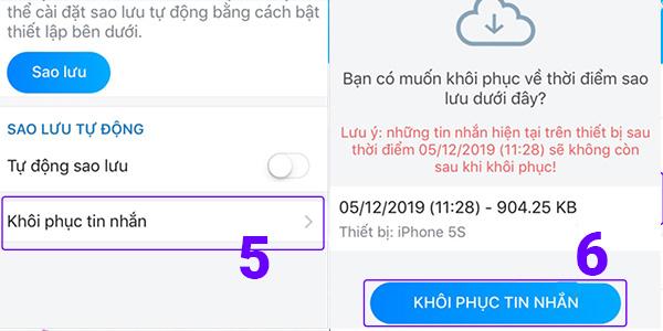 Khôi phục tin nhắn đã xóa trên iPhone (2)