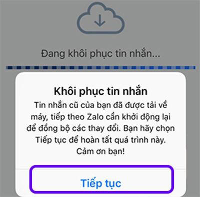 Khôi phục tin nhắn đã xóa trên Zalo từ android