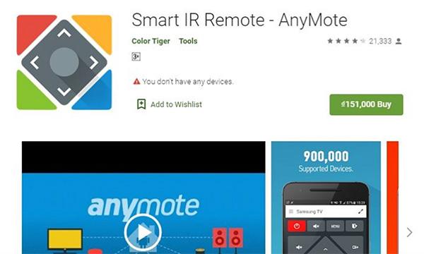 Cách điều khiển điều hòa bằng điện thoại Android Smart IR Remote