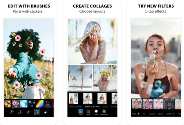 Ghép ảnh trên điện thoại bằng phần mềm PicsArt