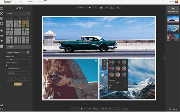 Phần mềm ghép ảnh vào ảnh Online Fotor
