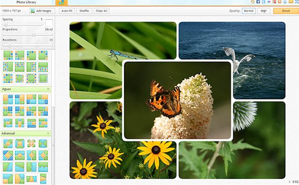 Phần mềm ghép ảnh trên máy tính Online - iPiccy