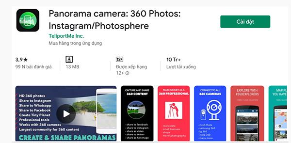 Ứng dụng chụp ảnh 360 độ trên iPhone