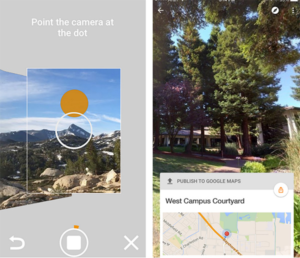 Chụp ảnh 360 độ trên iPhone bằng ứng dụng Google Street View