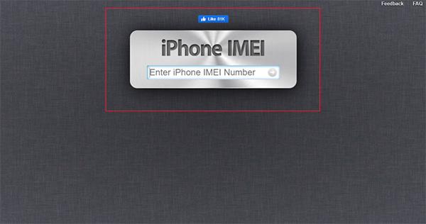 Website Check IMEI iphoneimei.info
