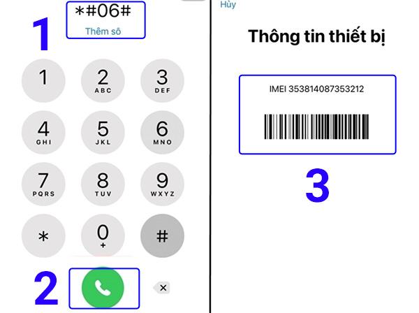 Xem IMEI iPhone qua cú pháp *#06#