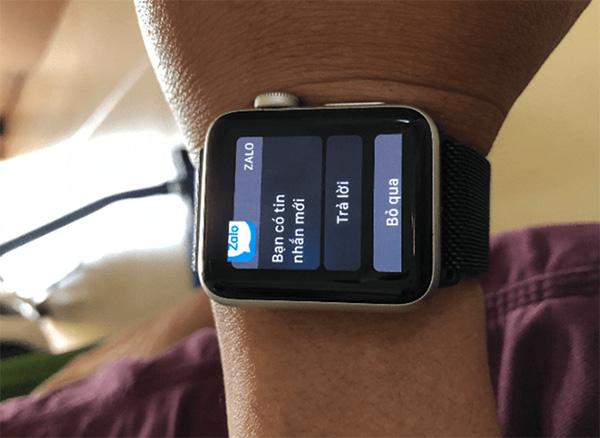 Cài đặt hiển thị thông báo Zalo trên Apple Watch